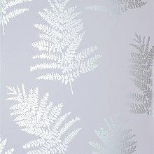 Arthouse Metallic Fern Silver Wallpaper