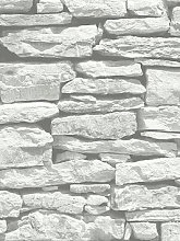 Arthouse Moroccan Stone Brick Wall Wallpaper -