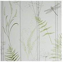 Arthouse Natural Panel Green Wallpaper