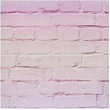 Arthouse Ombre Brick Pastel Pink Wallpaper