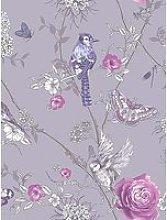 Arthouse Paradise Garden Lilac Wallpaper