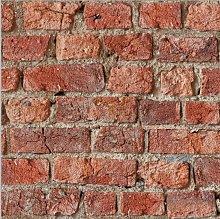 Arthouse Peel And Stick Urban Brick Red Wallpaper