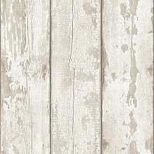 Arthouse Peel And Stick White Washed Wood Wallpaper