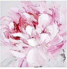 Arthouse Pink Flower Canvas Wall Art With Hand