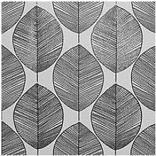 Arthouse Scandi Leaf Black & White Wallpaper