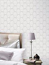 Arthouse Scandi Leaf Wallpaper &Ndash; Grey