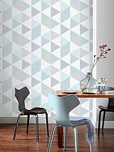 Arthouse Scandi Triangle Wallpaper &Ndash; Teal