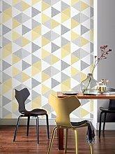 Arthouse Scandi Triangle Wallpaper &Ndash; Yellow