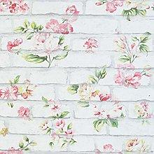 Arthouse Shabby Chic Brick Pink & White 907605