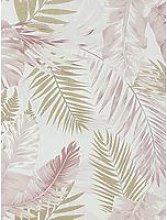 Arthouse Soft Tropical Blush / Gold Wallpaper