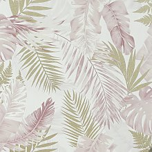Arthouse Soft Tropical Blush Pink Wallpaper