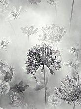 Arthouse Spring Meadow Mono Wallpaper