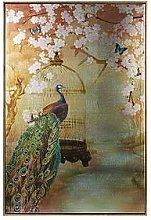 Arthouse Suki Peacock Framed Canvas Print