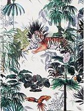 Arthouse Sumatra Green & White Wallpaper