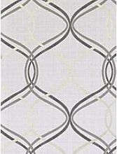 Arthouse Twisted Ogee Grey/Gold Wallpaper