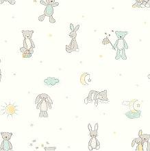 Arthouse Wallpaper Bear Hugs Mint 667400 - Full