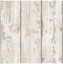 Arthouse White Washed Wood Peel & Stick Wallpaper