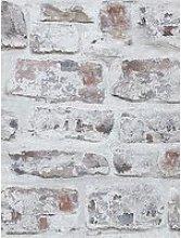 Arthouse Whitewashed Brick Wall Wallpaper