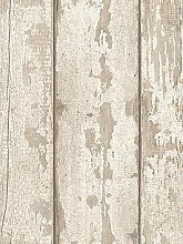 Arthouse Whitewashed Wood Wallpaper