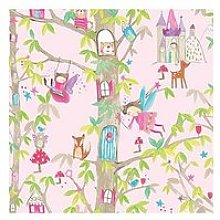 Arthouse Woodland Fairies Pink Wallpaper