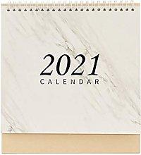 Artibetter 2021 Desk Calendar with Marble Pattern