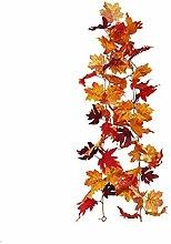 Artificial autumn leaves wreath, Artificial Fall