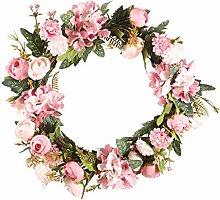 Artificial Camellia Wreath, wuayi Spring Fake