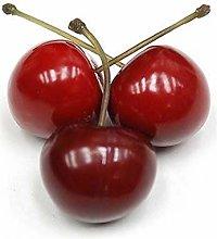 Artificial Cherries, Fake Red Cherries, Lifelike