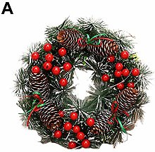 Artificial Christmas Decoration Wreath with Red