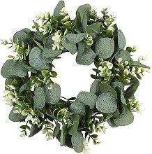 Artificial Eucalyptus Green Leaf Wreath with