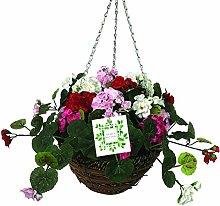 Artificial Flower Hanging Basket Geranium Diameter