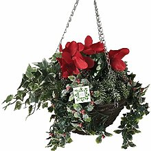 Artificial Flower Hanging Basket   Nearly Natural