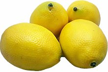 Artificial Fruit 4 Large Yellow Lemons for Home