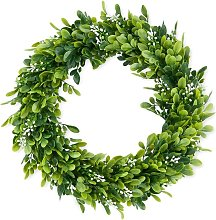 Artificial Green Leaves Wreath Eucalyptus Wreath