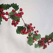 Artificial Holly and Berry Christmas Garland