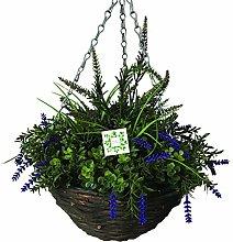 Artificial Lavender Flower Hanging Basket - Ready