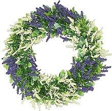 Artificial Lavender Wreath Front Door Wall