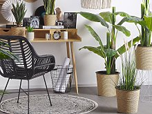 Artificial Potted Banana Tree Green and Black