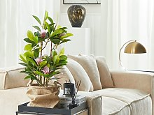 Artificial Potted Magnolia Green and Pink