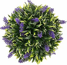 Artificial Purple Lavender Hanging Topiary Ball