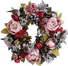 Artificial Wreath, Peony Wreath, Home Decoration,