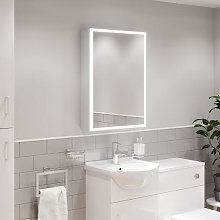 Artis Claro LED Aluminium Mirror Cabinet with Demister Pad and Shaver Socket 700x500mm - Mains Power