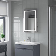 Artis Niteo LED Bathroom Mirror with Demister Pad and Shaver Socket 700 x 500mm - Mains Power