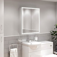 Artis Seren LED Aluminium Mirror Cabinet with