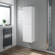Artis White Gloss Wall Hung Tall Bathroom Cabinet