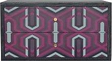 Artisan Furniture Cabinet, Mango Wood, Pink Aztec
