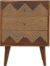 Artisan Furniture Cabinet with Drawers, Mango