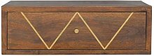 Artisan Furniture Cabinet, Wood, Chestnut/Brass
