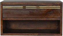 Artisan Furniture CABINET, Wood, Chestnut, Brass