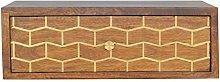 Artisan Furniture Cabinet, Wood, Chestnut/Gold Art